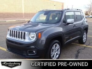 2017 Jeep Renegade 4WD LIMTED Navigation (GPS), Leather, Heated