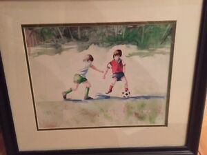 Soccer Watercolour Print