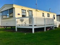 cheap static caravan for sale with sea views & decking in mid wales, nr Tenby, not haven. Borth