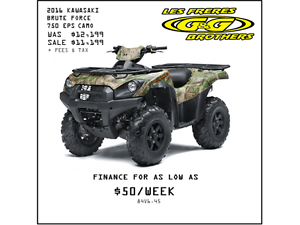 2016 BRUTE FORCE 750i EPS CAMO SALE $10699 3.9% for 60 months