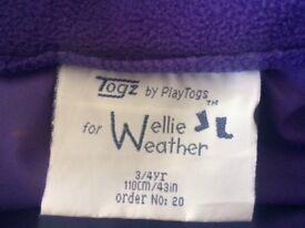 Child's waterproof coat