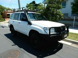 1999 Toyota Landcruiser HZJ105R Standard White 5 Speed Manual Wagon Redcliffe Redcliffe Area Preview