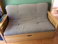 Well-made double sofa bed / futon with storage drawer £250