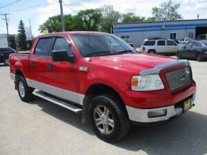 2005 FORD F-150 XLT 4X4, QUAD CAB SAFETY AND WARRANTY $8,950