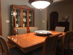 6 Chair, Dinning Table and Cabinet