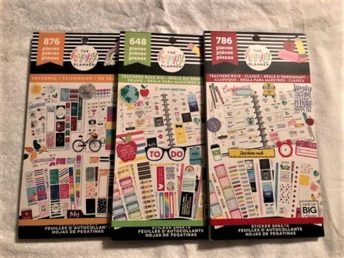 Lot of 3 The Happy Planner Me and My Big Ideas Sticker Books, New