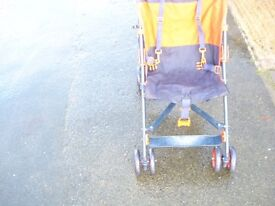 CHILD FOLDING PUSH CHAIR RED/BLUE - CHEAP! sorry sold