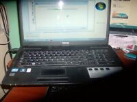 "black 17.3"" inch toshiba satellite truebrite c670 laptop+charger 32.bit os windows 7 £90 ono"