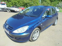 Peugeot 307 2.0 16V GLX DIGITAL A/C (blue) 2002