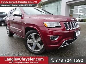 2016 Jeep Grand Cherokee Overland ACCIDENT FREE w/ ADVANCED T...