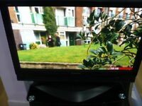 "Panasonic TH37PX70 37"" PLASMA TV. COMPLETE WITH PEDESTAL FOOT. IN FULL WORKING ORDER, SECOND HAND,"