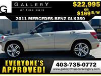 2011 Mercedes GLK350 4Matic $169 bi-weekly APPLY NOW DRIVE NOW