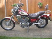 YAMAHA XV 535 S VIRAGO CUSTOM CRUISER MOTORCYCLE. JUST 4883 MILES-1997 MODEL-SUPERB CONDITION-MOTed