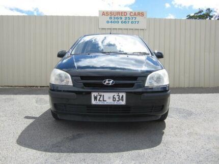 2003 Hyundai Getz TB GL Black 5 Speed Manual Hatchback Windsor Gardens Port Adelaide Area Preview