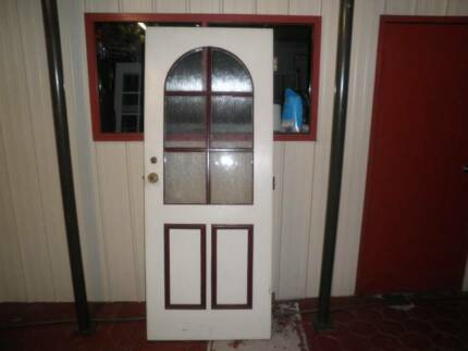 entry door solid timber with glass