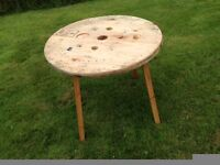 Cable drum topped table (2)