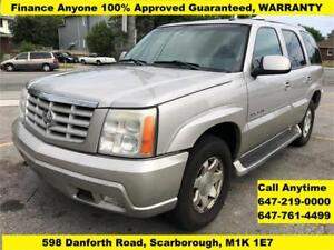 2005 Cadillac Escalade FINANCE 100% GUARANTEED WARRANTY 7-Seat