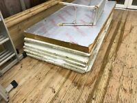 insulation 50mm white sheets and 100mm