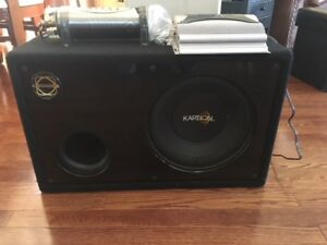 Bazooka ELA60.2 Amp & Kaption SubWoofer