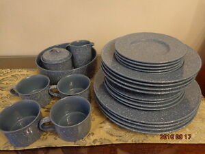 MIKASA Country Blue Dinner Set:  34 Pieces!