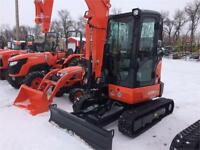 Kubota U35-4GA Compact Excavator with Angle Blade Brandon Brandon Area Preview