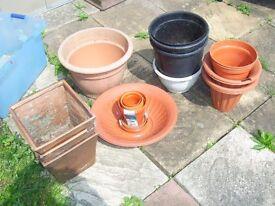 Asssorted flower pots