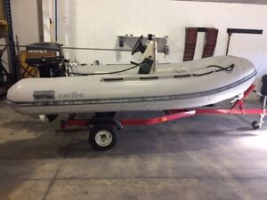Caribe RIB Center Console with trailer