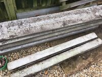 FREE TO COLLECT - 8 HIGH QUALITY CONCRETE FENCE PANELS - WOOD EFFECT