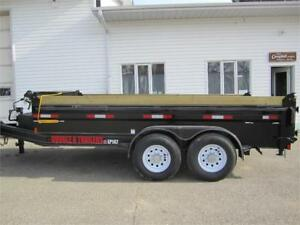 Double A 14 ft dump trailer