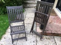 4 hardwood garden chairs