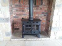 Excellent Condition Hunter Hearald 14 Wraparound Boiler Multi Fuel Stove