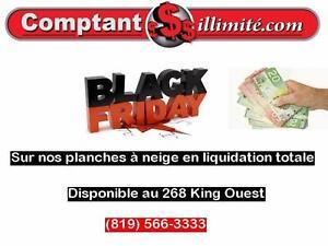 Profitez de notre Black Friday sur nos planches à neige Chez Comptant illimite.com