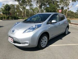 2014 Nissan Leaf AZEO S ELECTRIC GREEN CAR Silver 1 Speed Automatic Hatchback