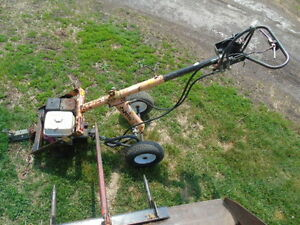 towable gas powered post hole auger honda engine