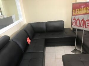 MASSIVE CLEARANCE/a Selection of Brand. New Leather Sofa