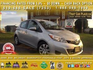 2014 Toyota Yaris LE-$45/Wk-Bluetooth-CD/Mp3-Tint-Cruise-AC-Keyl