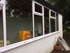 2X UPVC double glazed panels door and frame for sale.