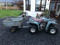 Yamaha Farm Quad and tipping trailer for sale