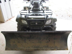 SUZUKI ATV WITH PLOW, SNOWBLOWER, YAMAHA GENERATOR FOR SALE.