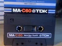 TDK CASSETTES TAPES? WE'VE MOST TYPE 1 2 3 & 4 BUT FEW ADS. PLEASE READ. TDK METAL MA-C 60 TYPE 4.