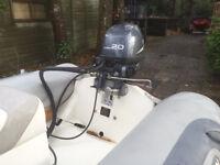 Avon Rib 3.7m Yamaha 20hp 4 stroke excellent & tralier