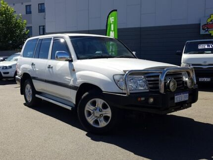 2006 Toyota Landcruiser HDJ100R Upgrade II GXL (4x4) White 5 Speed Automatic Wagon East Victoria Park Victoria Park Area Preview