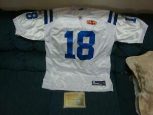 Peyton Manning SB XLIV signed jersey with certificate of authenticity