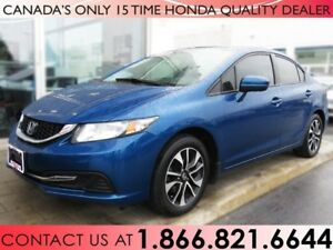 2015 Honda Civic Sedan EX | 1 OWNER | TINT | HONDA CERTIFIED
