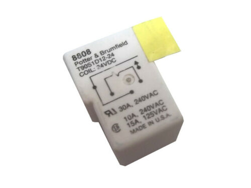 Potter & Brumfield T90S1D12-24, 24VDC, SPST, general purpose relay