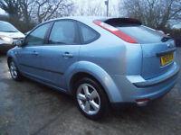 0555 FORD FOCUS 1.6 115 BHP ZETEC CLIMATE 5DR HATCH 59K FSH TONIC BLUE METALLIC