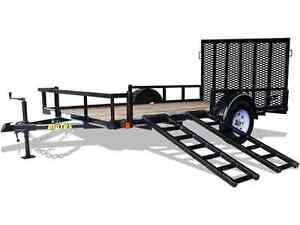 Big Tex 7 x 14' Single Axle Utility Trailer