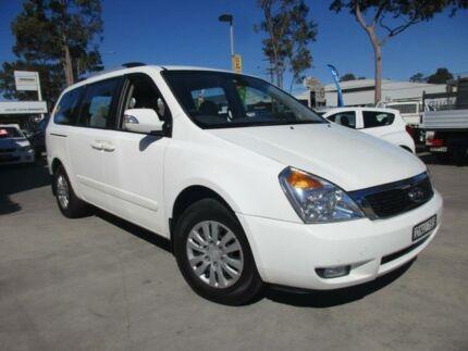 2010 Kia Grand Carnival VQ MY11 SI White Auto Sports Mode Wagon