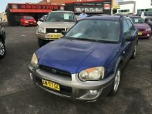 2003 Subaru Impreza MY03 RV (AWD) Blue 5 Speed Manual Hatchback Cardiff Lake Macquarie Area Preview