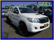 2015 Toyota Hilux KUN26R MY14 SR (4x4) White 5 Speed Manual X Cab Cab Chassis Penrith Penrith Area Preview
